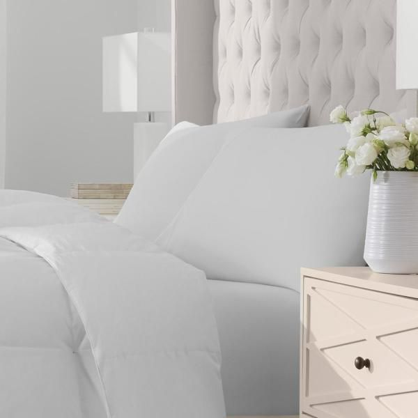 Home Decorators Collection Lightweight Down White Cotton King Comforter HOM500CO50K - The Home Depot