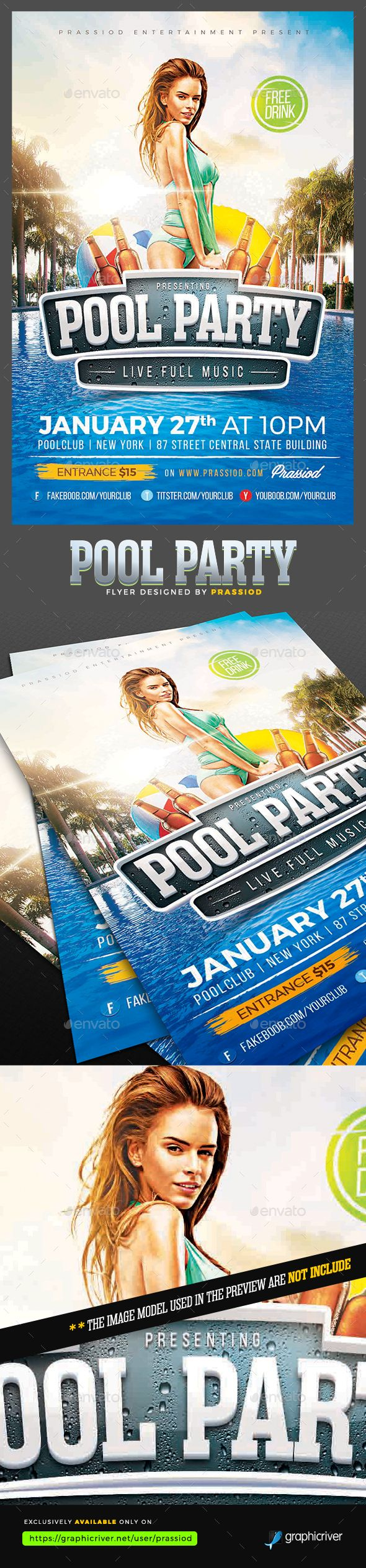 pool party flyer template party flyer flyer template and template