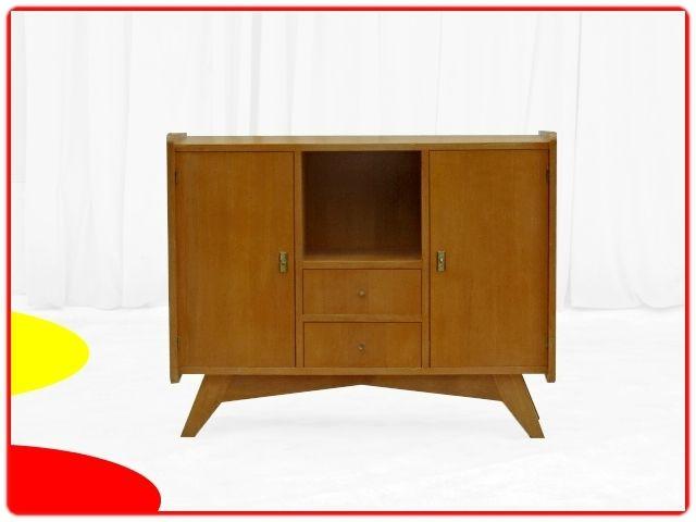 BUFFET VINTAGE ETROIT CHENE CLAIR 1960 meubles design vintage