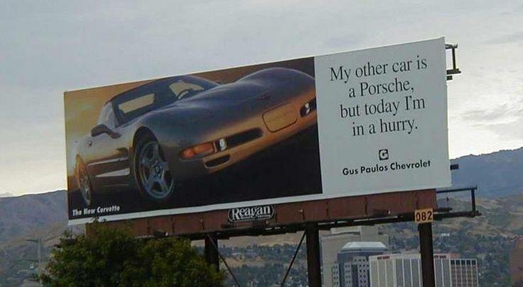 C5 Corvette Billboard Takes A Poke At Porsche Corvette Cool