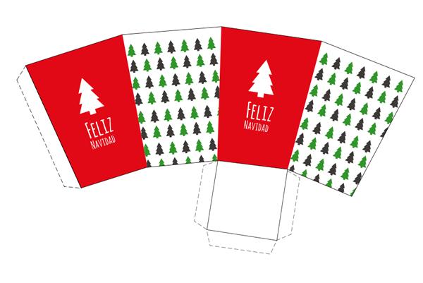 15 Cajas de Navidad para imprimir | Cajas, Rojo y Navidad