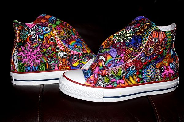 psychedelic converse chuck taylor hippy 2 | Custom sneakers