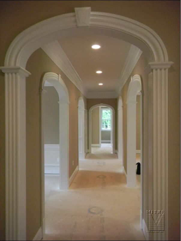 Arched Openings Arched Doors Door Frame Molding Hallway Designs