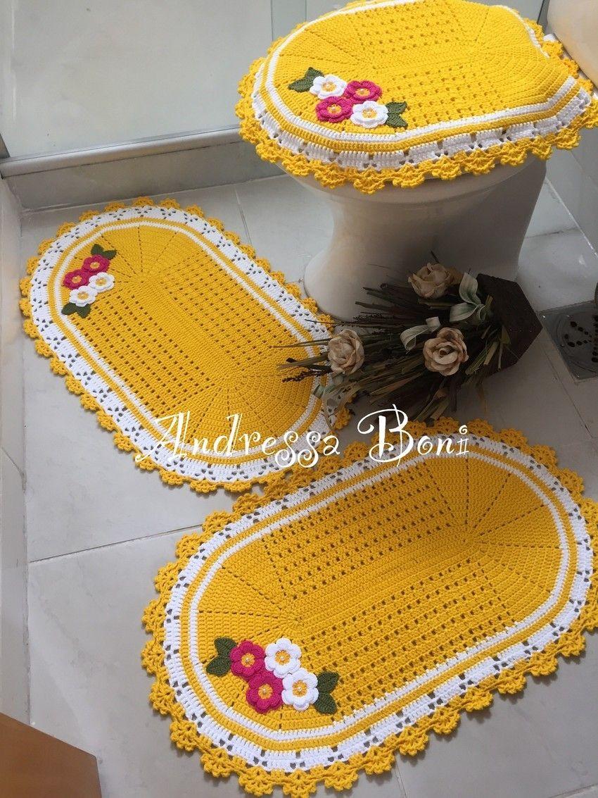 Jogo de banheiro, kit banheiro, flores