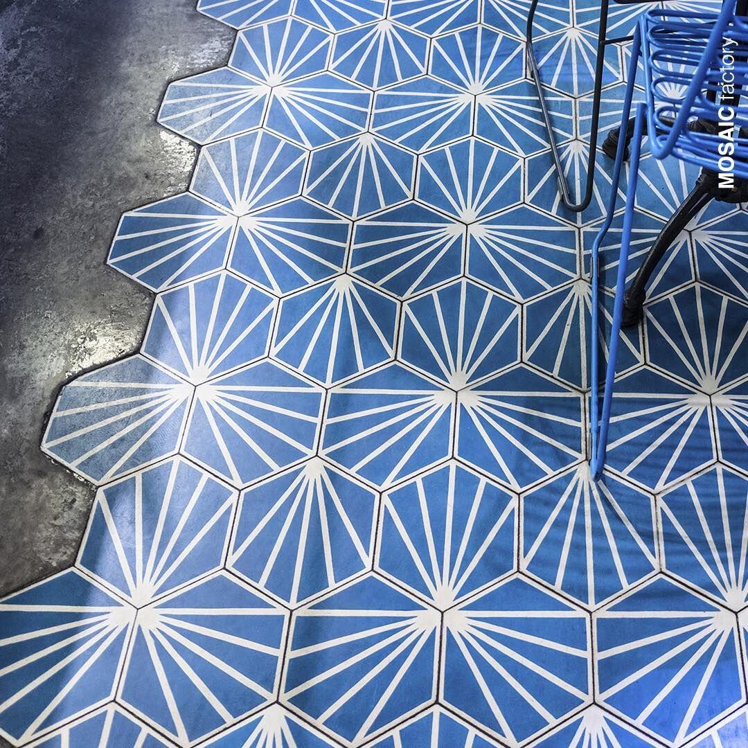 Patterned hexagonal floor tiles and microcement flooring ...
