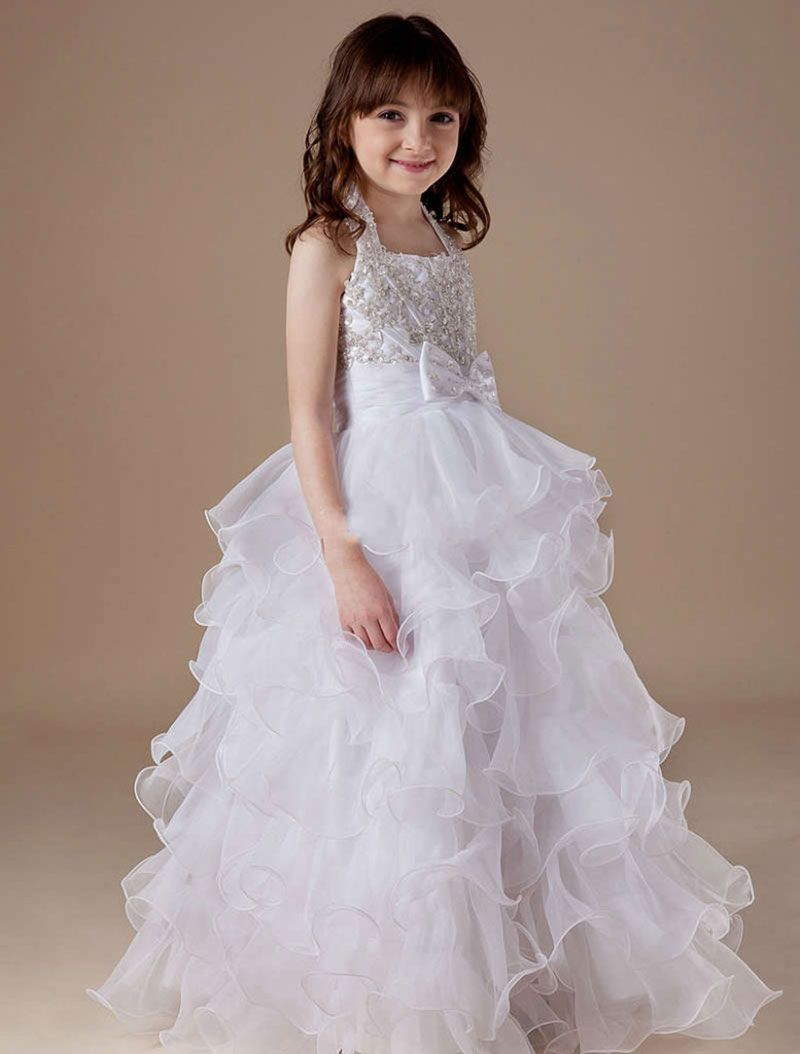 Beautiful white color adorable designer gown with embroidery this is an example dresses for small kids for wedding best profesional wedding planner this is an example dresses for small kids for wedding ombrellifo Images