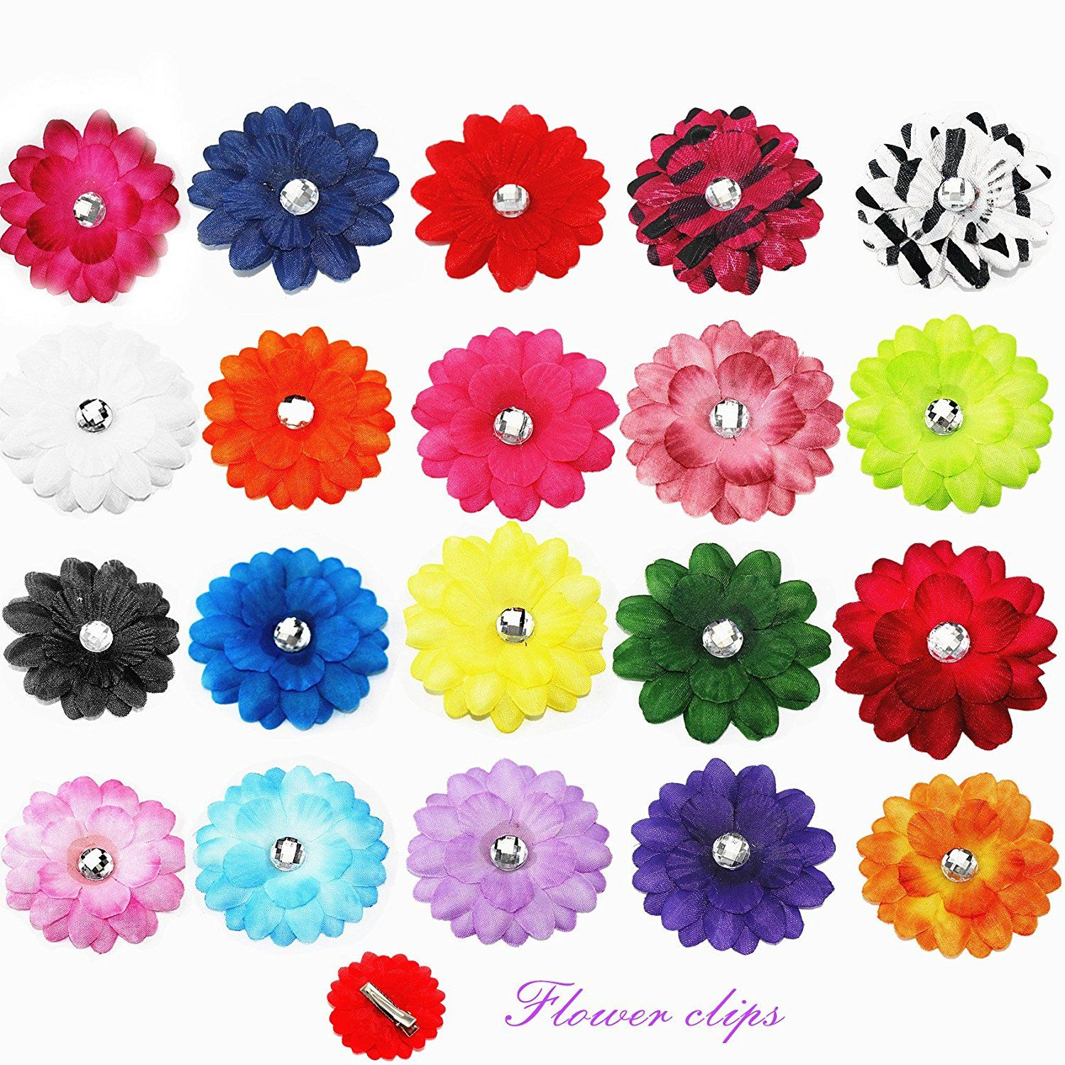 0b6b5ce6e2c27 Cellot Alligator Hair Clips for Kids (20-Piece Set) - 2 inches Hair Daisy  Flower Hairpins for Children