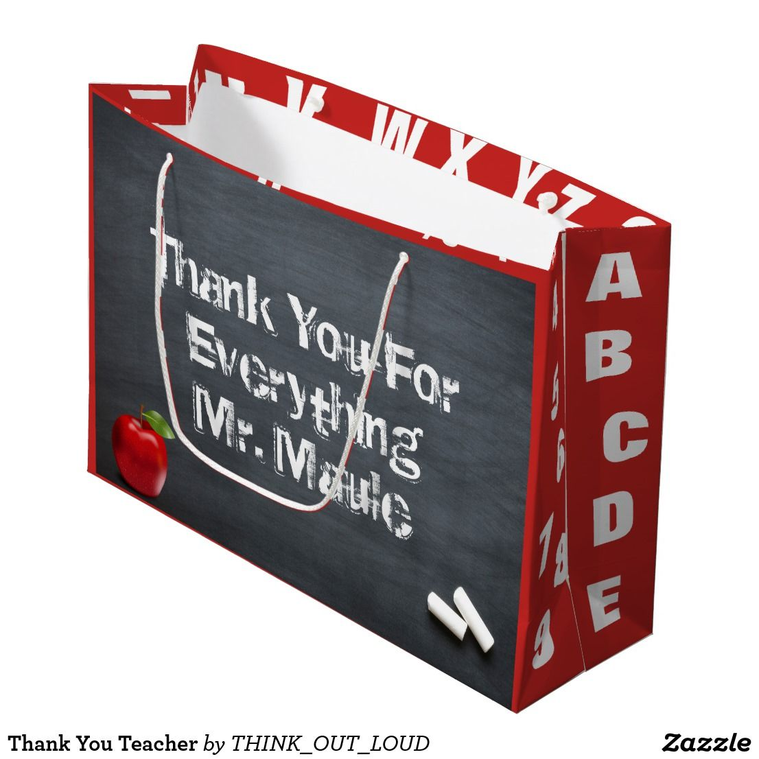 Thank You Teacher Large Gift Bag Wrapping Paper And All Your Gift