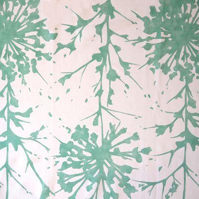 Prints Fabric - Sunburst Ld Mint Stripe W/Pattern Fabric Pattern