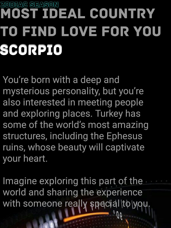 scorpio astrology love