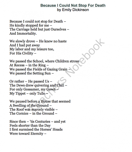 "analysis of emily dickinsons poem Analysis emily funeral irony  an analysis of irony in emily dickinson's ""i felt a funeral in my brain  emily used a dash to end the poem,."