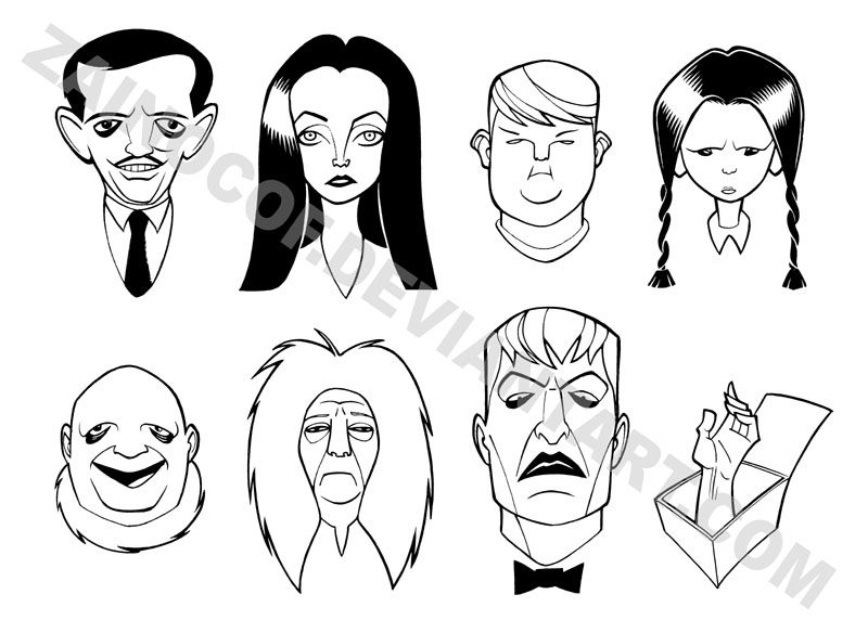 Addams Family Coloring Pages | Family coloring pages ...
