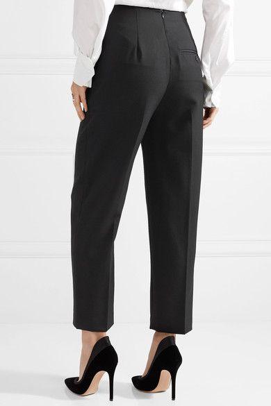 Grosgrain-trimmed Wool-crepe Tapered Pants - Black 3.1 Phillip Lim 8vu9R5