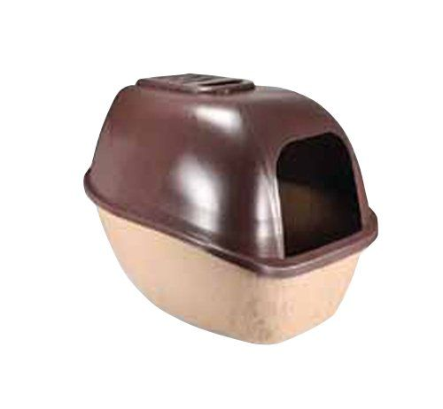 SmartyKat PrivacyPlease Hooded Cat Litter Box, Brown/Tan - http://petproduct.reviewsbrand.com/smartykat-privacyplease-hooded-cat-litter-box-browntan.html
