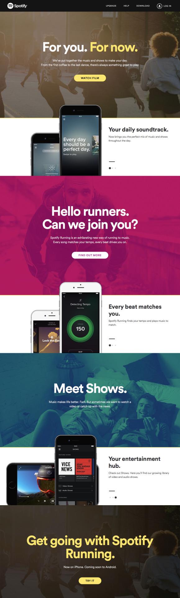 Now - Spotify  https://www.spotify.com/us/now/