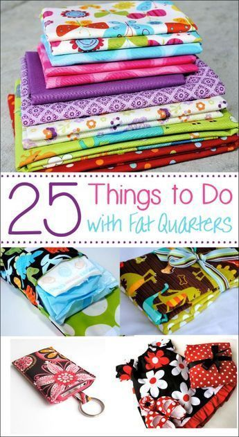 25 things to do with Fat Quarters #sewingprojects