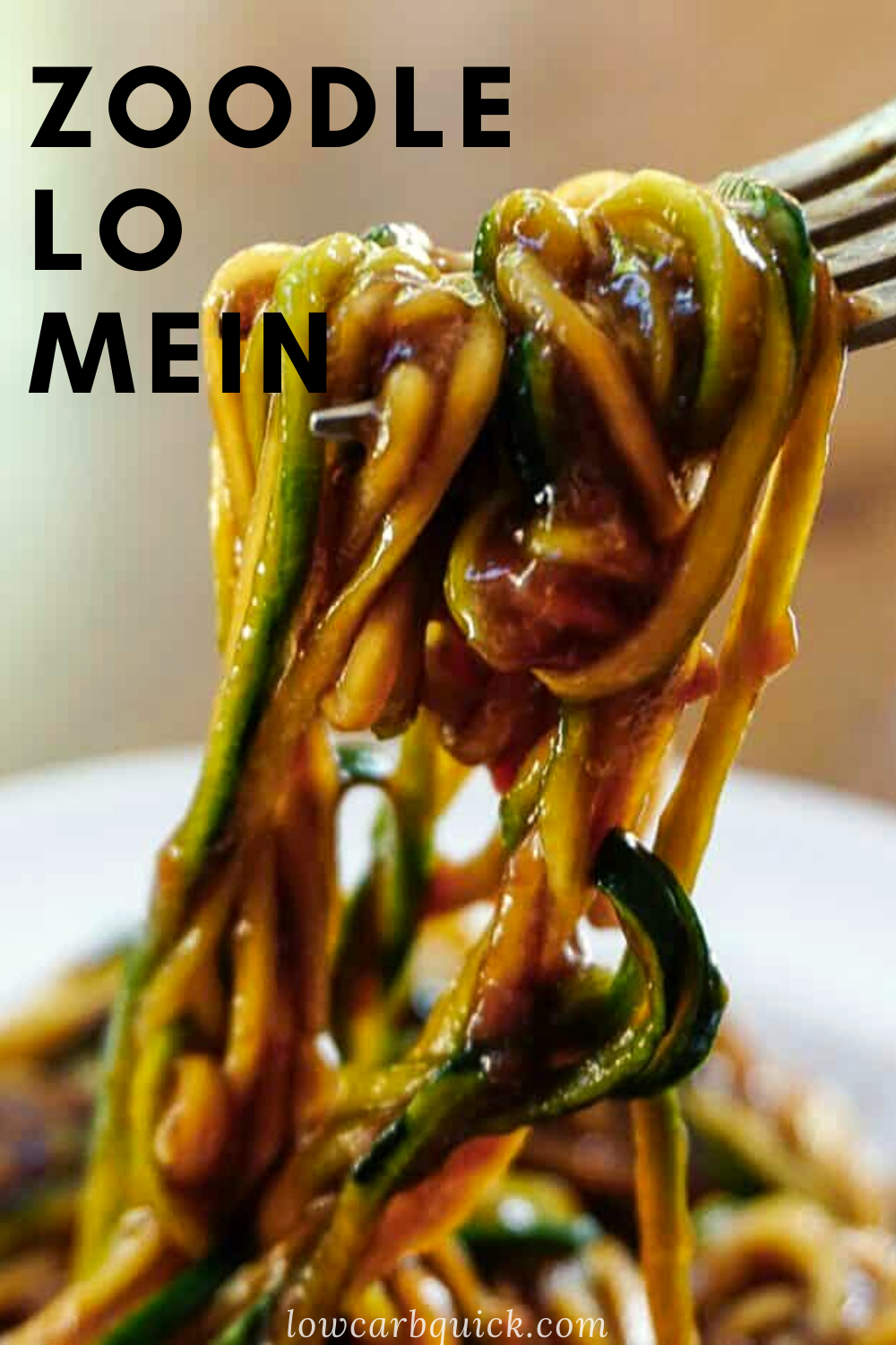 Keto Zoodle Lo Mein Stir Fry — LOW CARB QUICK