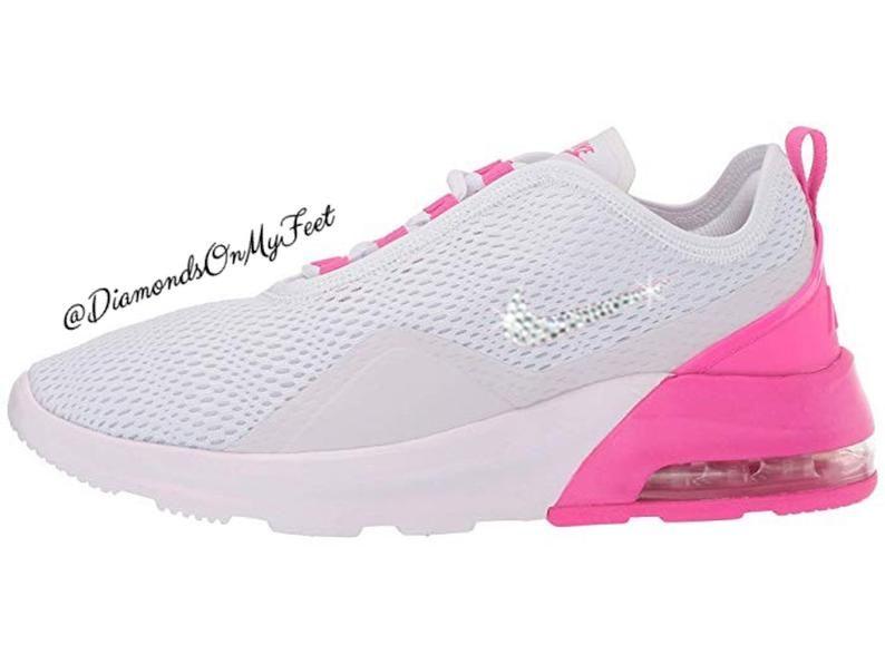 Swarovski Women's Nike Air Max Motion 2 White & Pink