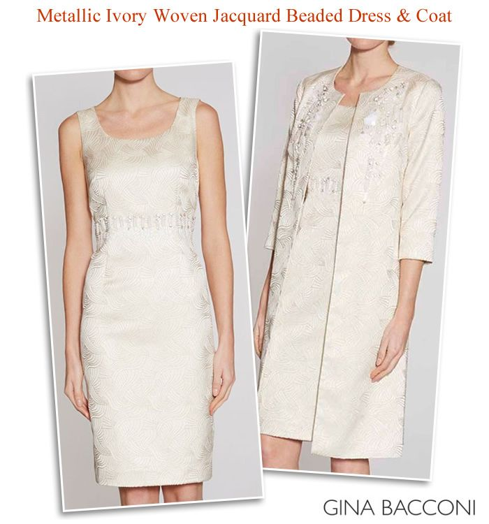 Gina Bacconi beaded dress matching coat   Mother of the Bride ...