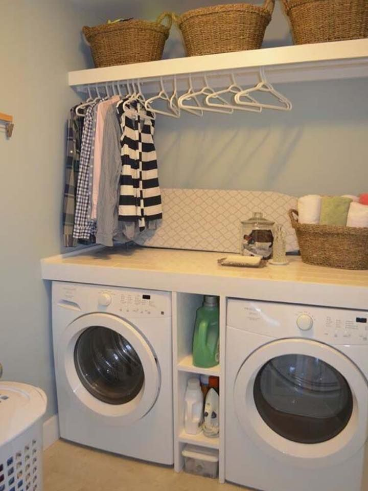 Charmant 10 Laundry Room Ideas Possible Solution For Above The Washer/dryer. I Like  The Idea Of Being Able To Hang Clothes Up As They Come Out Of Dryer.