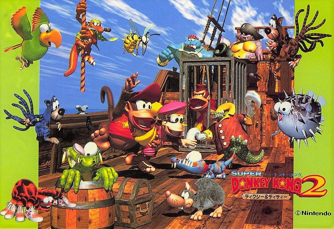 Donkey Kong Country 2 Wallpaper Met Afbeeldingen