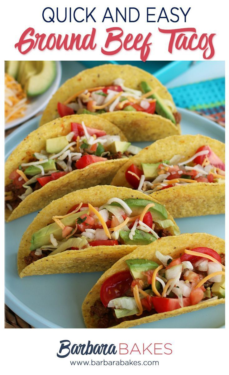 Easy Ground Beef Tacos #groundbeeftacos This taco meat recipe is perfect for Easy Ground Beef Tacos!  They are quick and easy to make with spices you probably already have in your cupboard.  That means there is no need to buy a sodium loaded taco seasoning packet at the store!  #taco #groundbeef #barbarabakes #tacoseasoningpacket Easy Ground Beef Tacos #groundbeeftacos This taco meat recipe is perfect for Easy Ground Beef Tacos!  They are quick and easy to make with spices you probably already h #groundbeeftacos