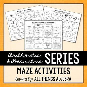Arithmetic Series And Geometric Series Mazes  Geometric Series