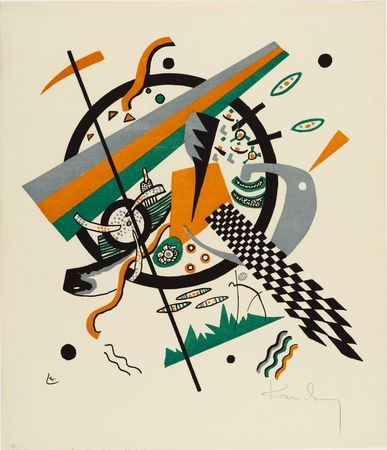 PLATE IV FROM THE PORTFOLIO KLEINE WELTEN, 1922 Lithograph New York, Museum of Modern Art (MoMA) #kandinsky #kandinski #kandinskij #abstraction #abstractart http://www.wassilykandinsky.net/work-212.php