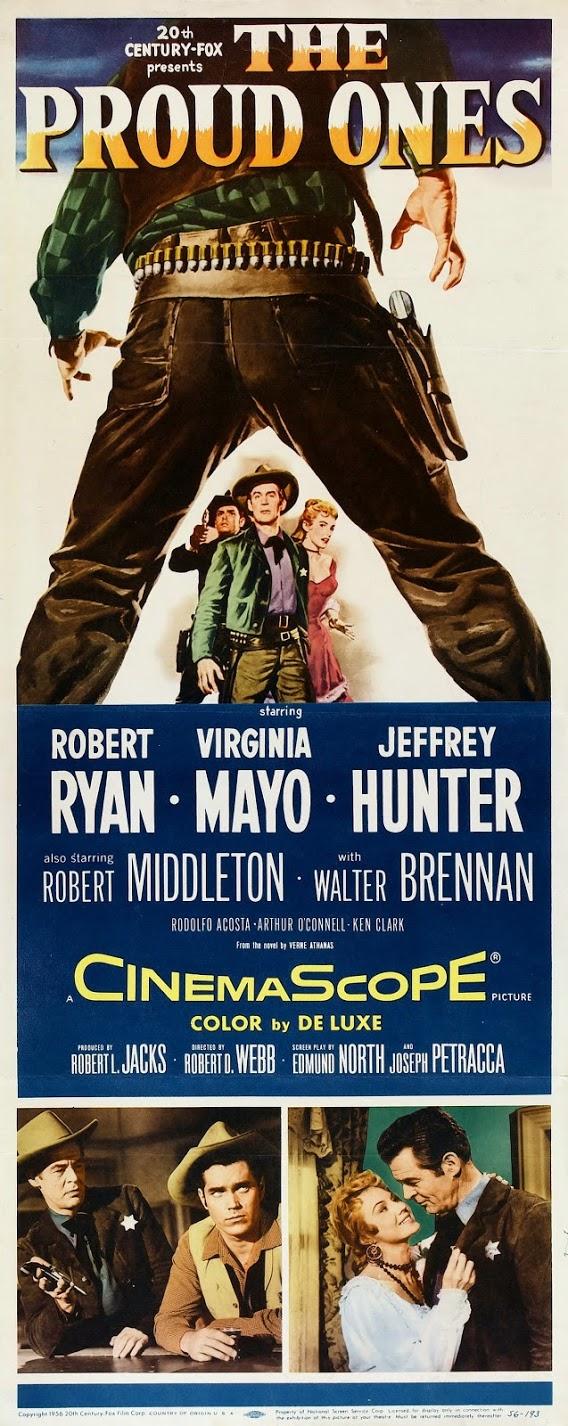 Foto De 1956 Tierra De Violencia The Proud Ones Tt0049639 Google Fotos Western Movies Jeffrey Hunter Movie Posters