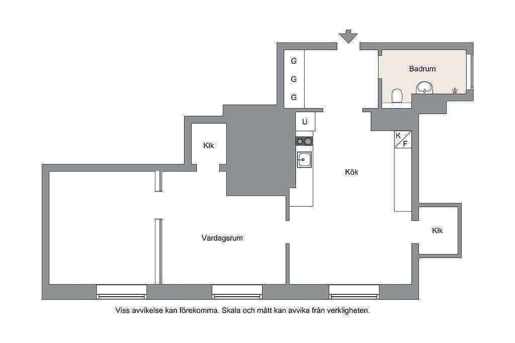 plan appartement en enfilade