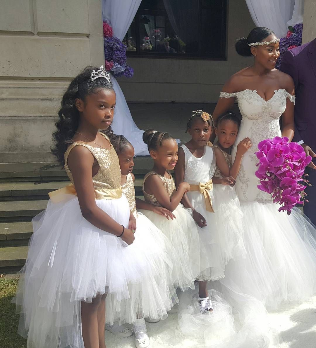 Kandi burruss wedding dress  Pin by Tiffany Dillon on Terrius wedding  Pinterest  Flower girl