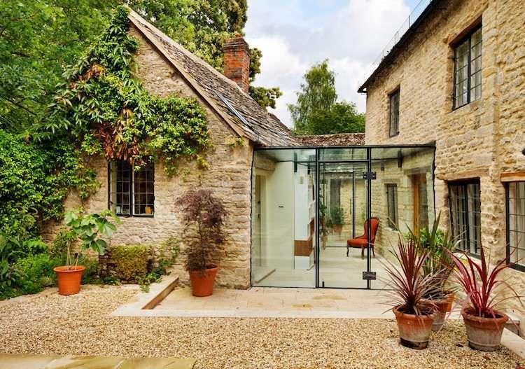 La pierre et le verre comme mat riaux de construction contrast s marier en architecture - Le verre maison ...