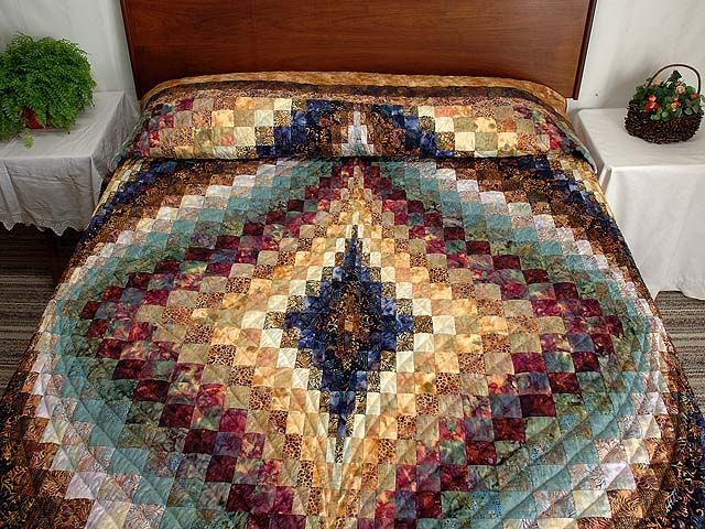 Diamond Bargello Quilt -- splendid made with care Amish Quilts from Lancaster (hs2471)