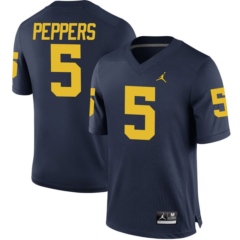 b61c152c2 Jabrill Peppers Michigan Wolverines Brand Jordan Youth Alumni Game Jersey -  Navy