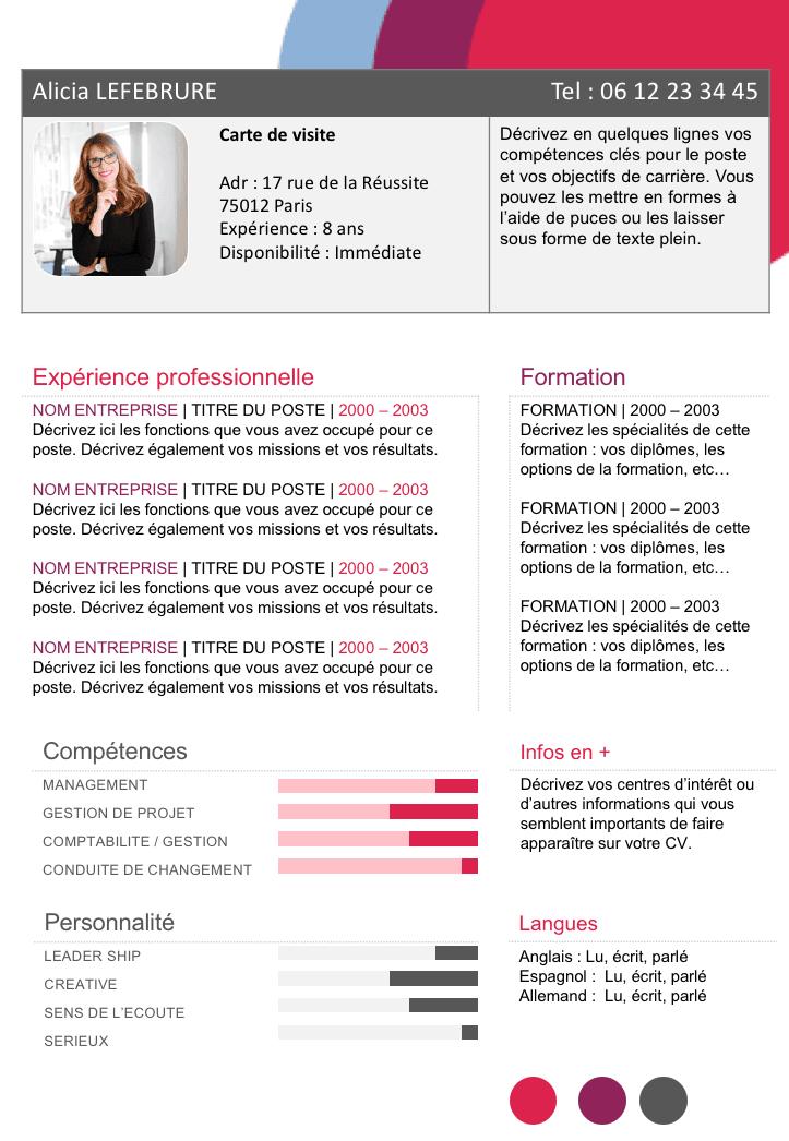 CV fonctionnel à télécharger | cv | Pinterest