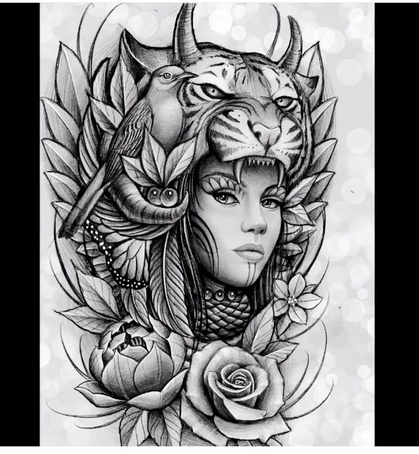 pingl par florin costea sur face tattoos pinterest tatouages dessin visage femme et id es. Black Bedroom Furniture Sets. Home Design Ideas