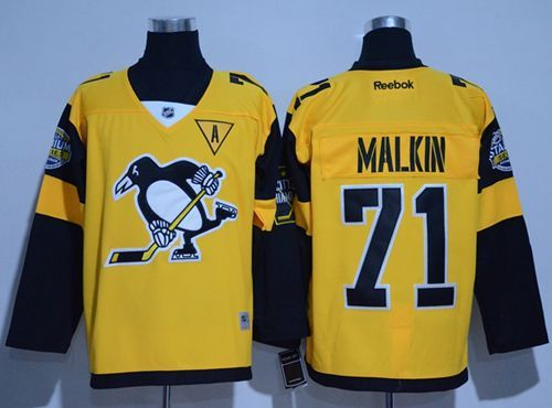 various colors 9cec6 3bb73 Penguins #71 Evgeni Malkin Gold 2017 Stadium Series Stitched ...