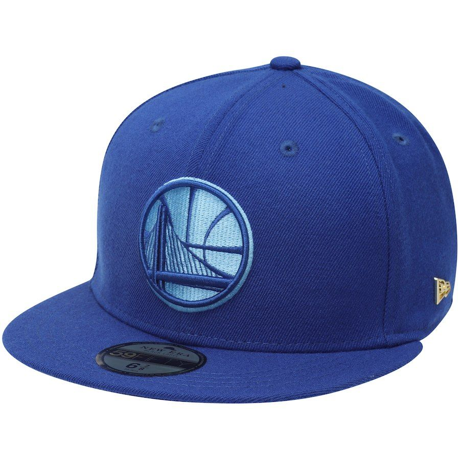 0227df5ddf1cb1 Men's Golden State Warriors New Era Royal Essential Black Label Series  59FIFTY Fitted Hat, $39.99