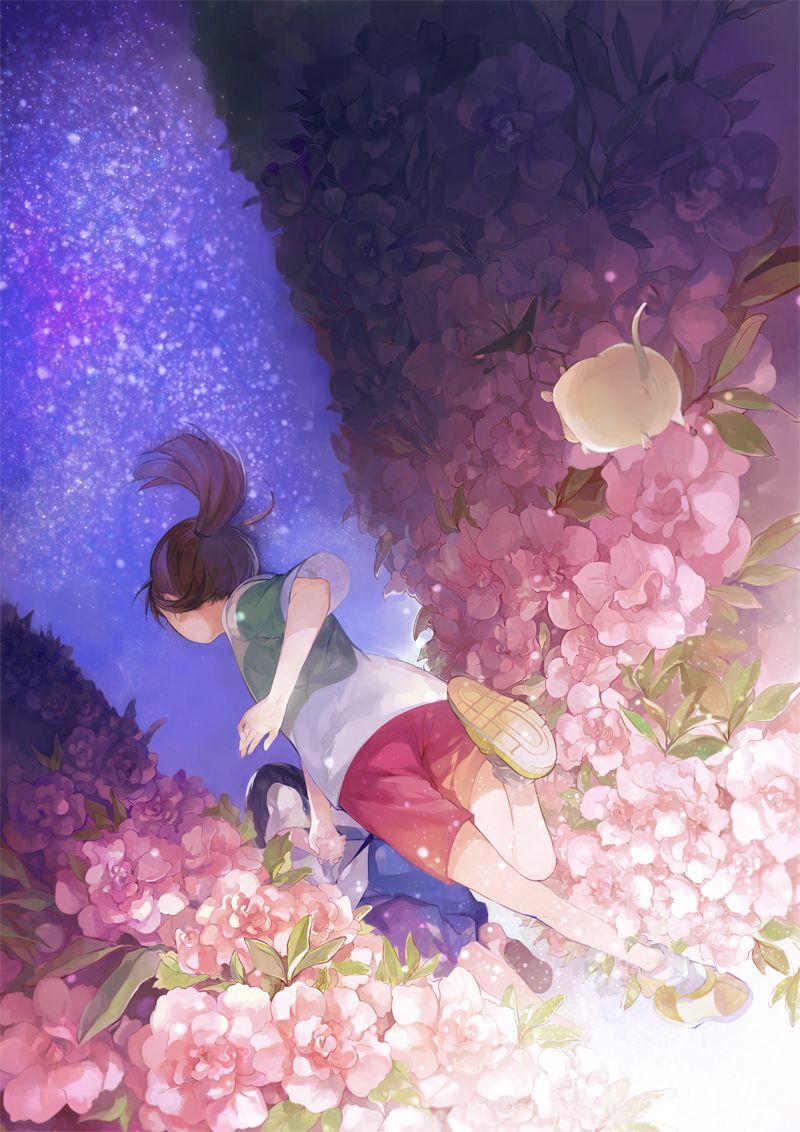 Spirited Away   Hayao Miyazaki   Studio Ghibli / Ogino Chihiro and Haku