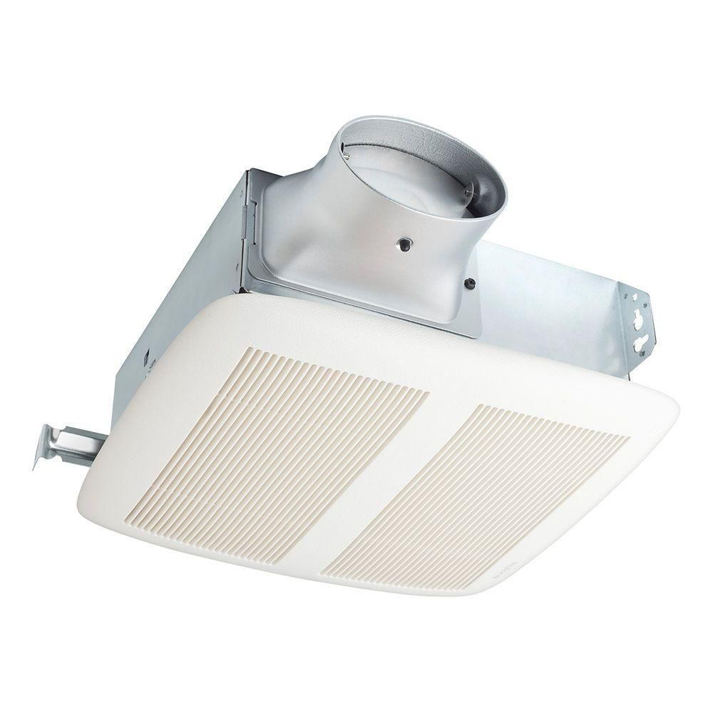 Nutone Loprofile 80 Cfm Ceiling Wall Bathroom Exhaust Fan With 4 In Oval Duct Or 3 In Round Duct Energy Star Lpn80 Bath Fan Bathroom Fan Light Bathroom Fan