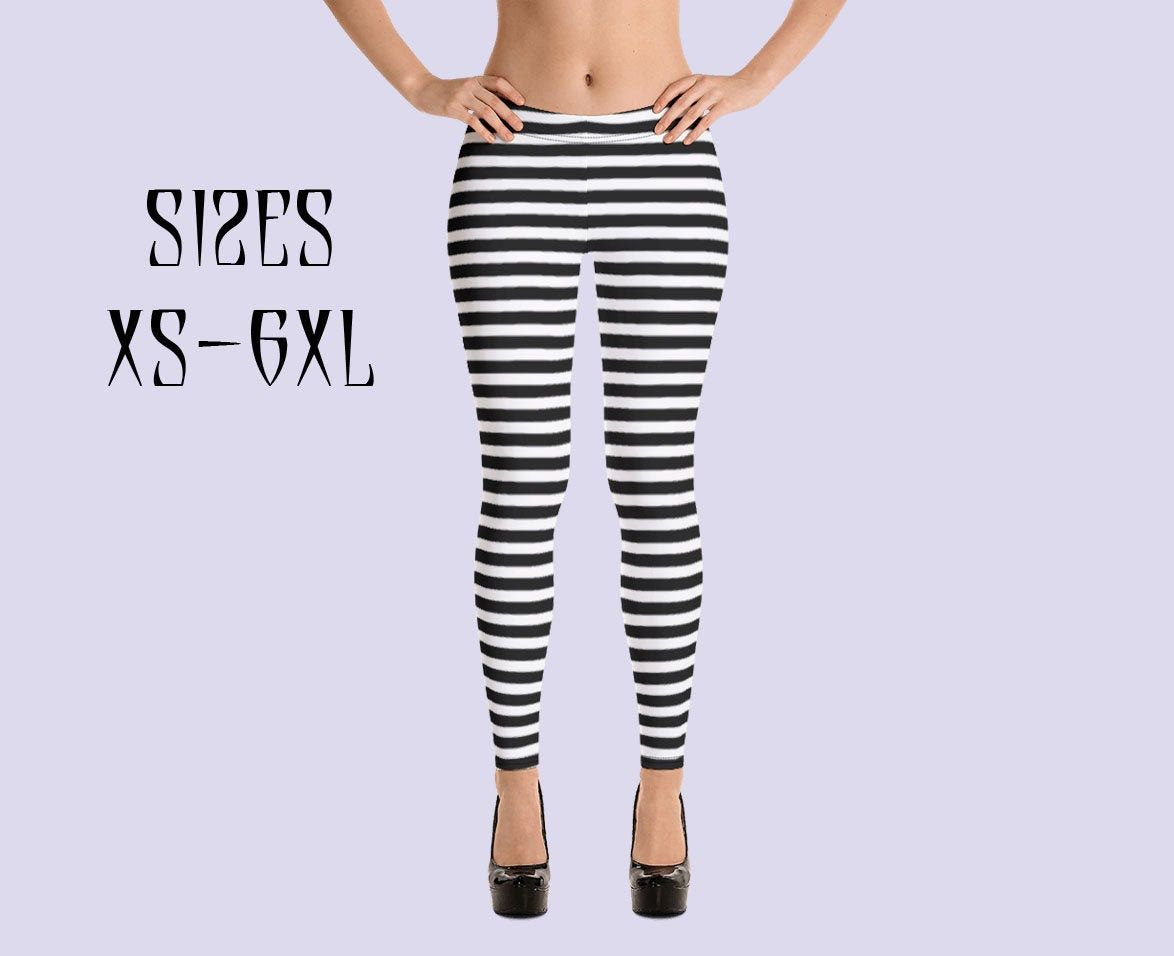 Black & White striped leggings|Beetlejuice|Witch leggings|Halloween leggings|Plus size leggings|Gothic leggings|Plus Size Goth|Gothic Pants #stripedleggings