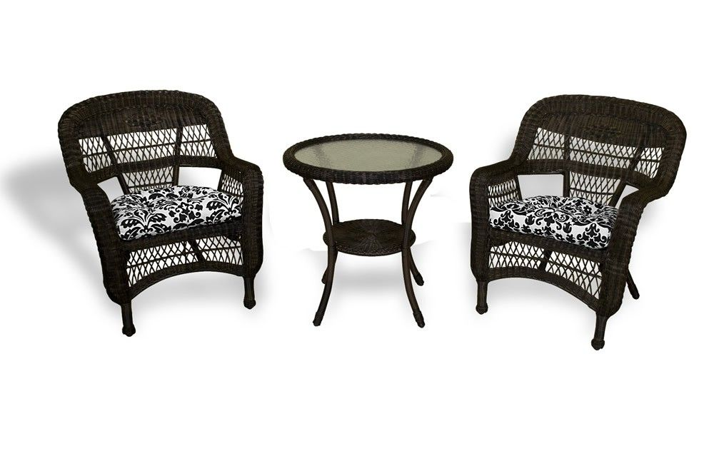 Tortuga Outdoor Portside 3 Piece Wicker Bistro Set More Choices