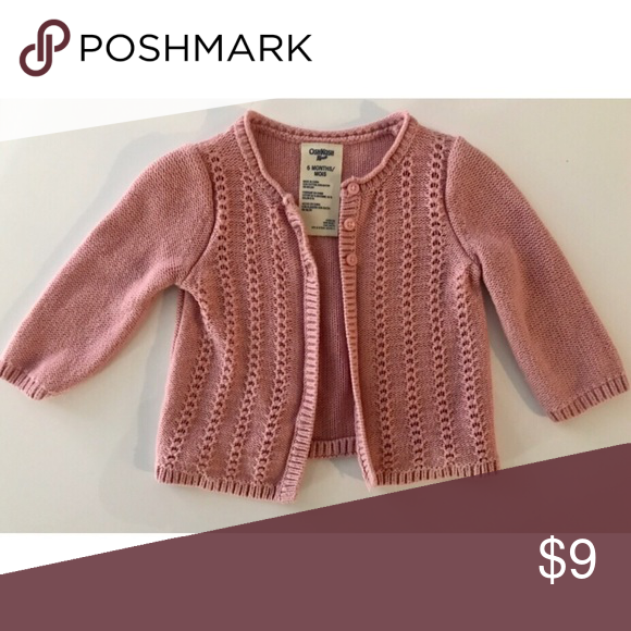 95f707c08 OshKosh Pink Cardigan Sweater Baby Girl 6 months in 2018