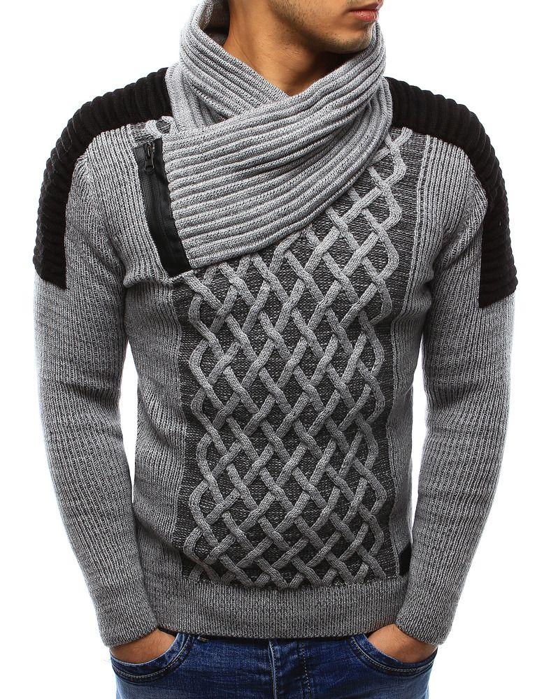 Sweter męski szary (wx0986) sklep online Dstreet.pl