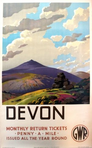 Vintage LMS GWR Wye Valley Railway Poster A3//A2//A1 Print