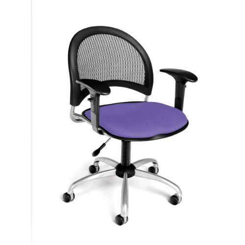 OFM Moon Swivel Chair with Arms in Lavender