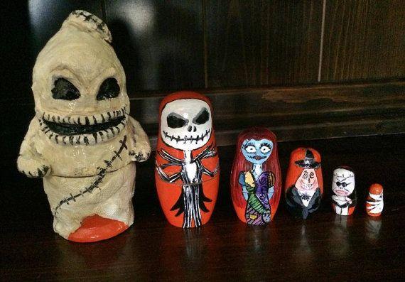 Nightmare Before Christmas Russian Nesting Dolls