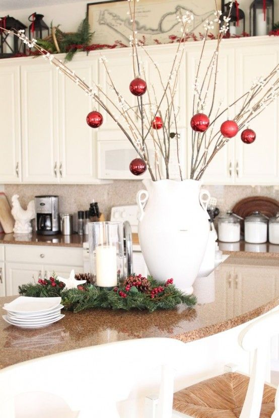 this time i ll show you images of 40 cozy christmas kitchen decorating ideas that i m sure you will gonna love