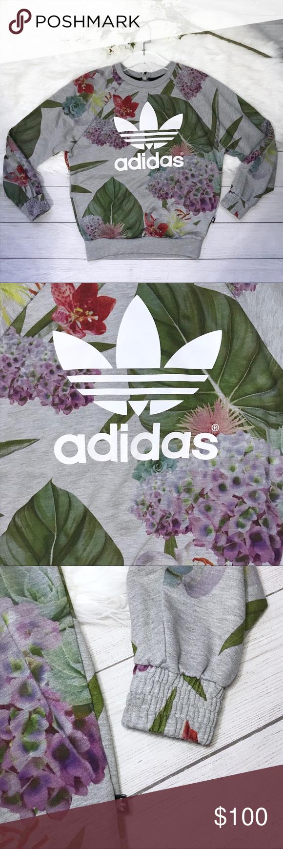 Rare Adidas Train Aop Sweatshirt Succulent Print Succulents Prints Floral Prints Clothes Design [ 1740 x 580 Pixel ]