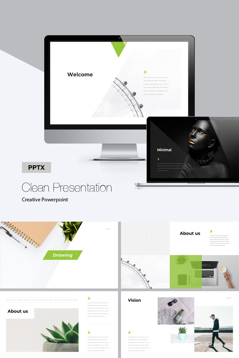 Clean Powerpoint Template 75676 Presentation Templates